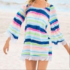 Lilly Pulitzer Getaway Coverup Striped Linen Dress